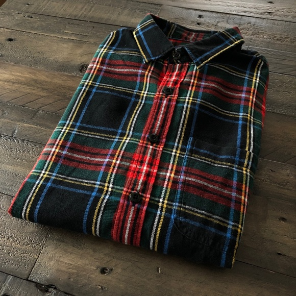 J Crew Flannel Button Up Men's Small
